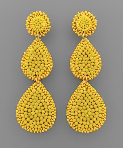 Triple Threat Earrings-7 Colors