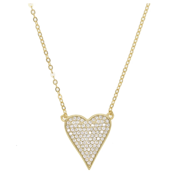 AC Full Heart Pendant Necklace