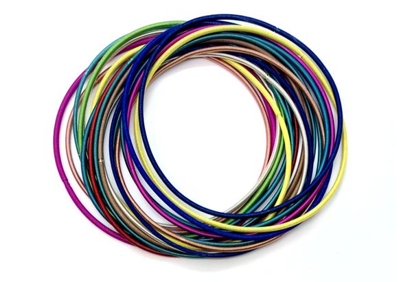 The Rainbow Guitar String Bracelet Set