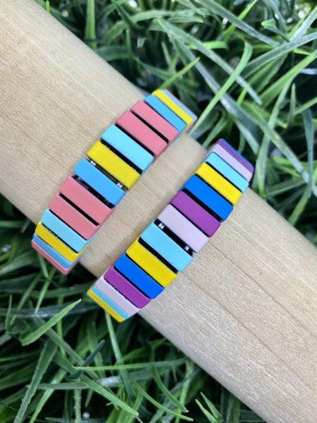 Coated Bar Bracelet-2 Colors