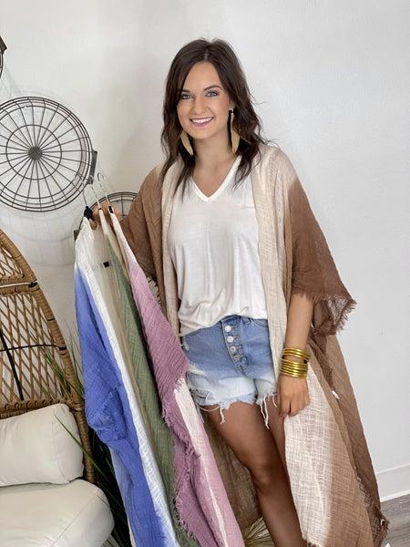 Cotton Boho Kimono-4 Colors