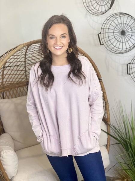 The Lilac Mineral Wash Pullover