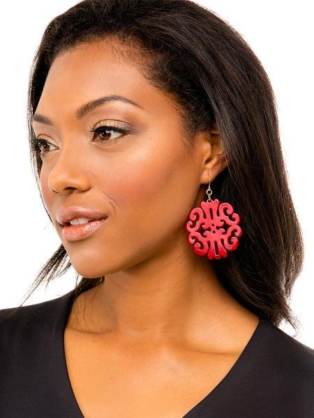Resin Swirl Earrings-20 Colors