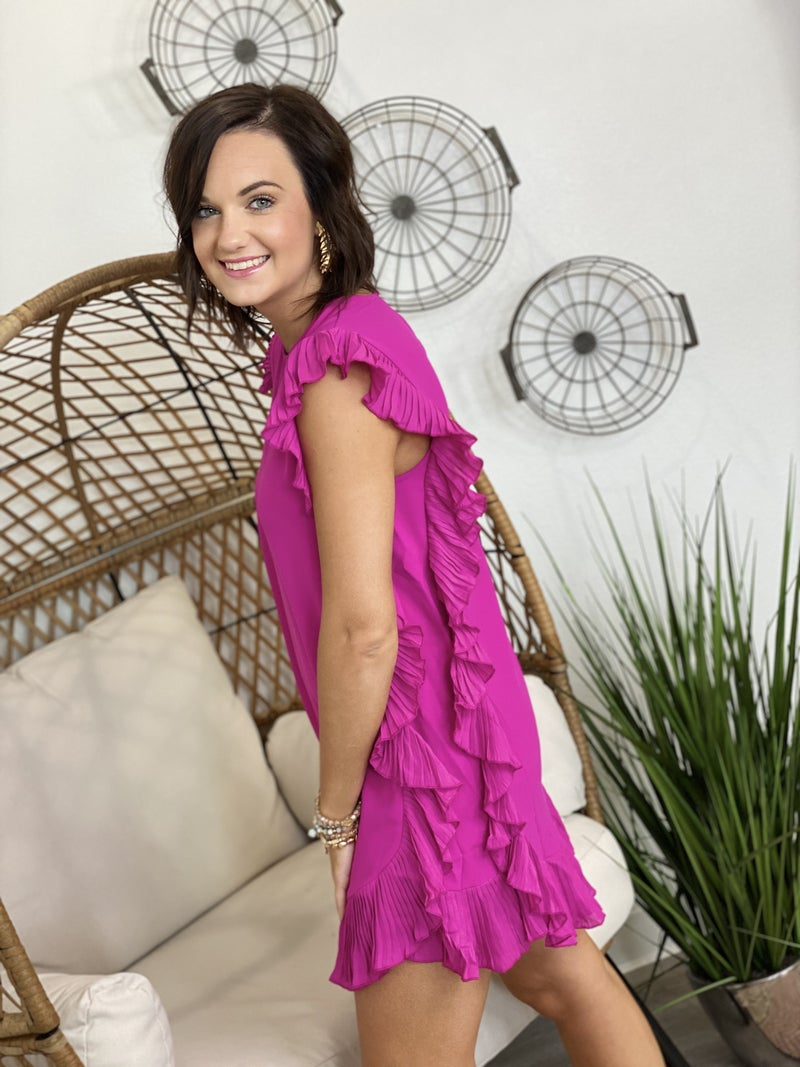 The Cocktail Dress in Magenta