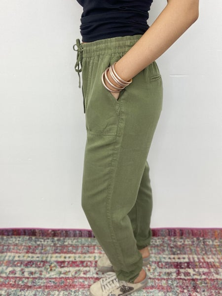 The Serena Joggers in Olive