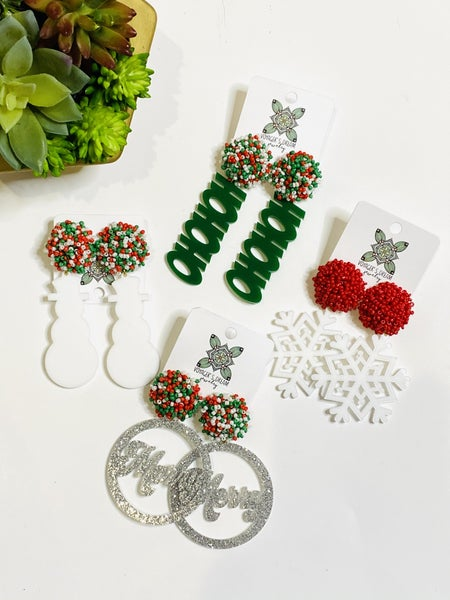 Christmas Acrylic Earrings-4 Styles