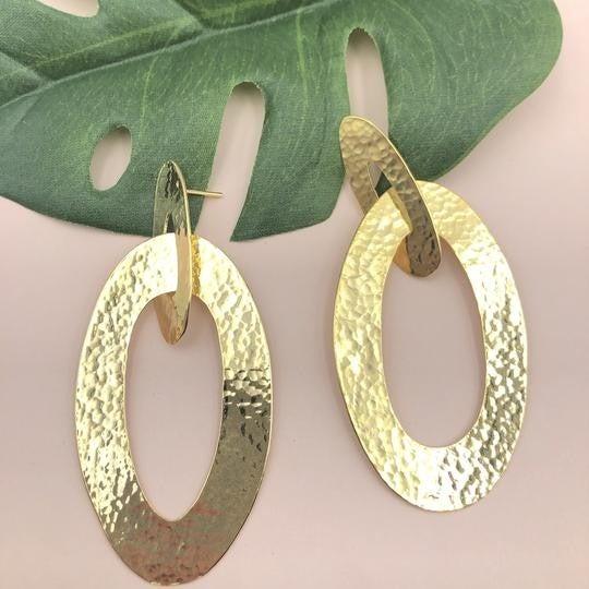 Overlapping Oval Earrings