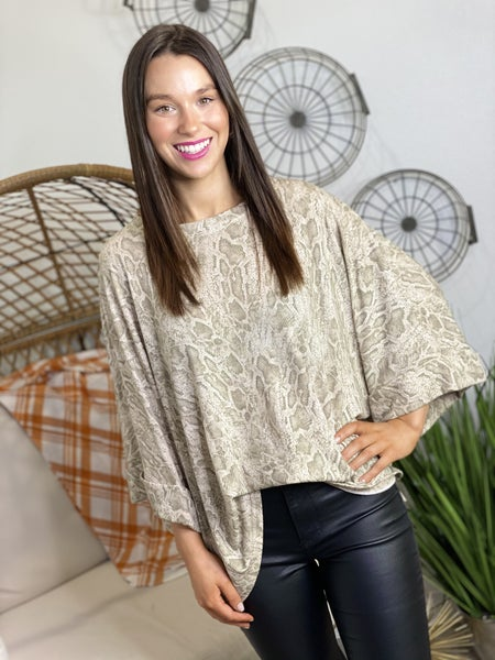 The Avery Top in Snake