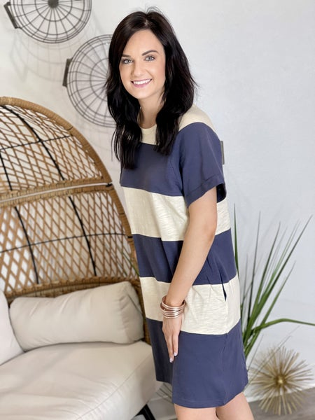 The Cotton Bleu Dress - All Sizes
