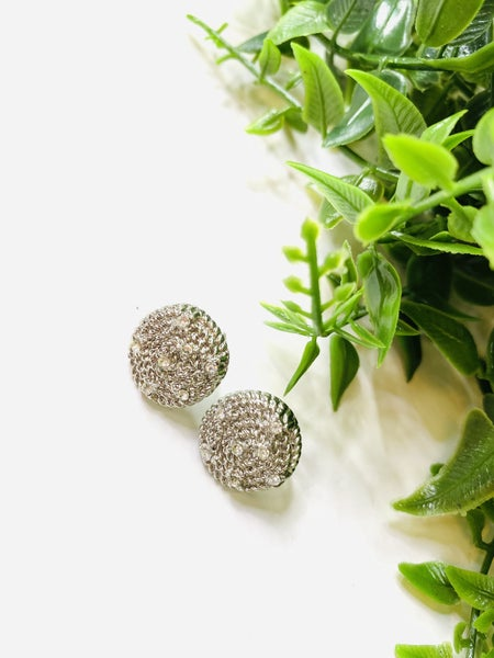 The Silver Cluster Earrings