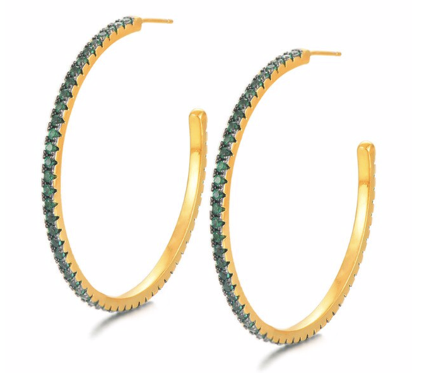 Emerald CZ Hoops