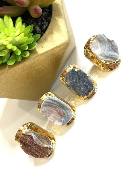 Druzy Rock Assorted Rings