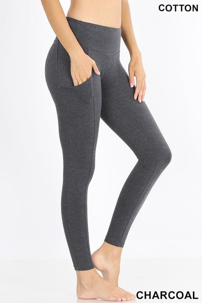 STEAL Pocket Cotton Leggings-4 Colors