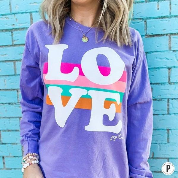 Lilac Love LS Tee