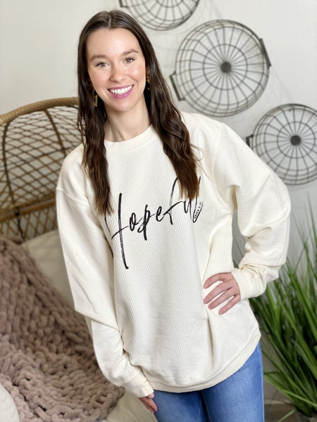 The Hopeful Corded Pullover