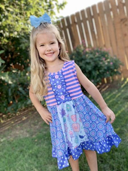 Purple Sunflower Dress