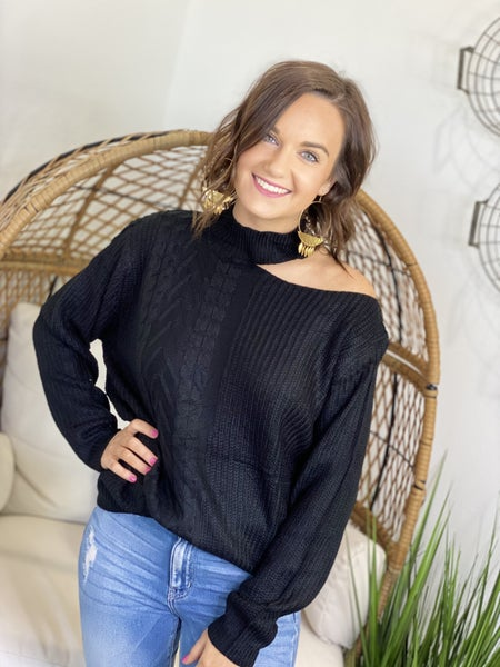 The Sneak a Peek Sweater in Black