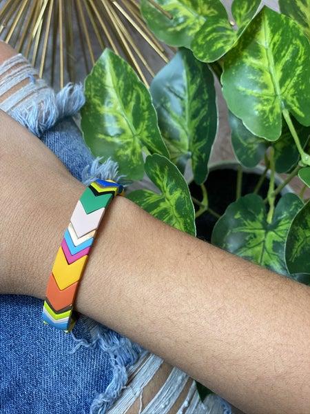 The Chevron Tile Bracelet