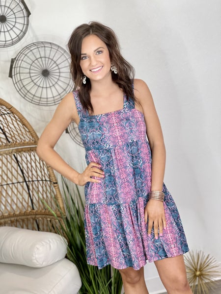 The Candy Snake Tiered Dress