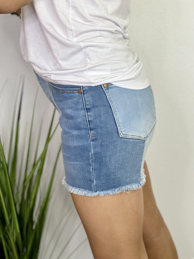 The Split Denim Shorts