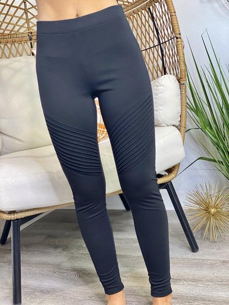 PF Steal #37 - Black Moto Leggings