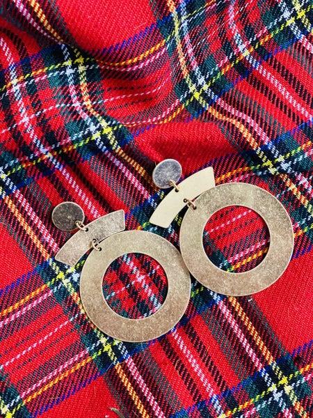 PF Steal #6 - Gold Geo Drop Earrings