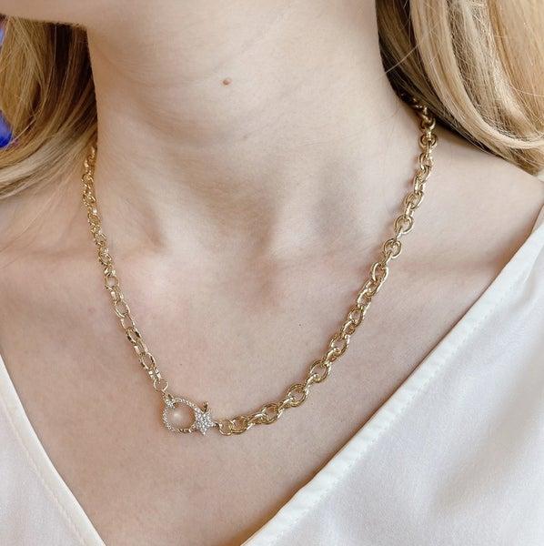 TJ Clip Gold Star Necklace