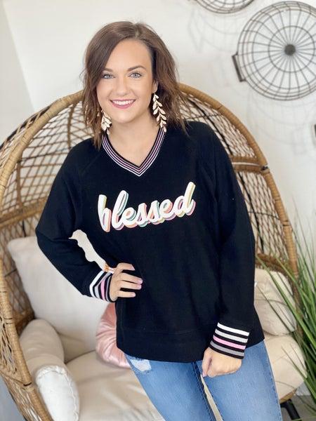 Blessed Corded Sweatshirt