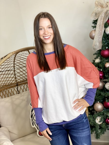 The Color Block Dolman Top