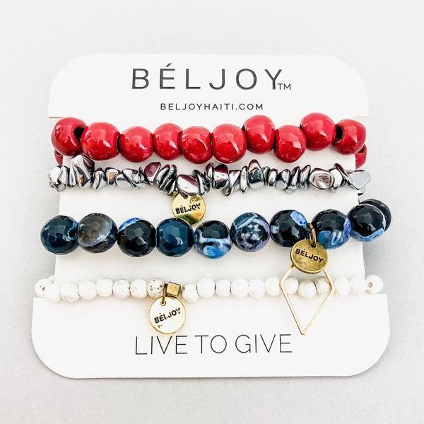 The Beljoy USA Bracelet Stack
