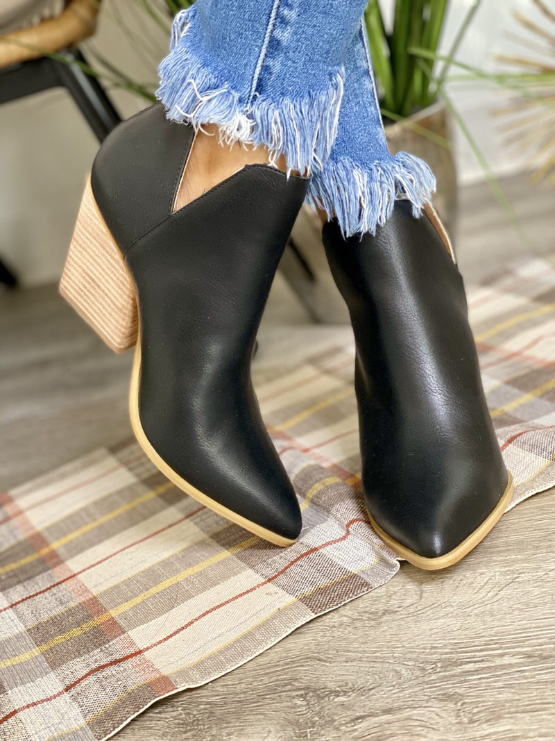 The Indigo Black Booties