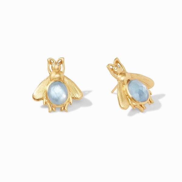 JV Bee Stone Earrings-4 Colors