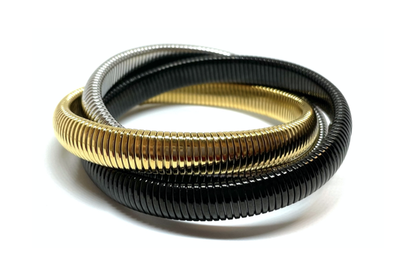Mixed Metal Twisted Cobra Bracelet
