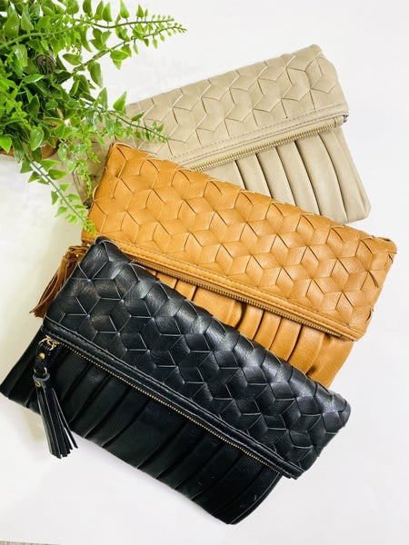The Pleated Clutch - 3 Colors