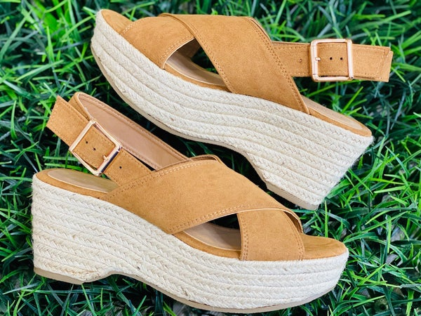 The Criss Cross Espadrilles in Tan