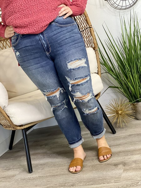The Curvy Angie Boyfriend Jeans
