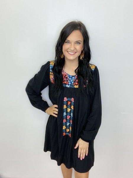 The Black Fall Fiesta Dress-All Sizes