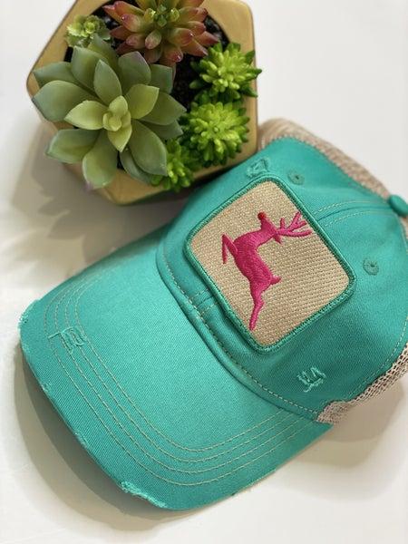 The Reindeer Hat in Seagreen