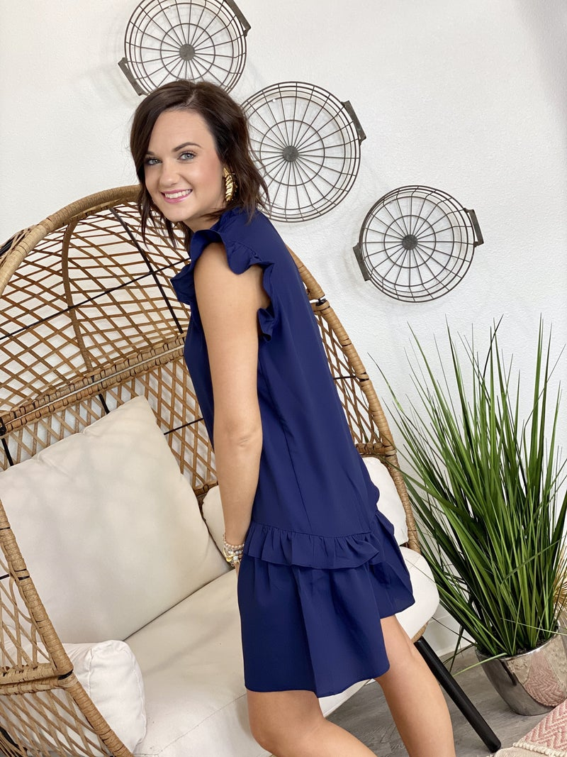 Ladies Who Lunch Dress in Navy