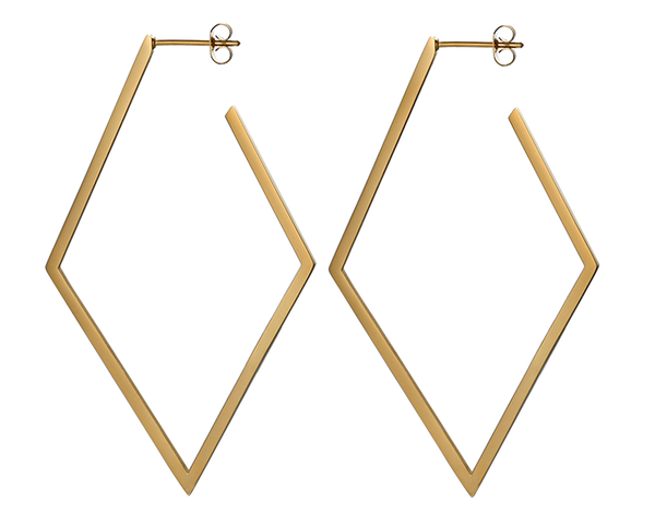 Brass Abstract Earrings
