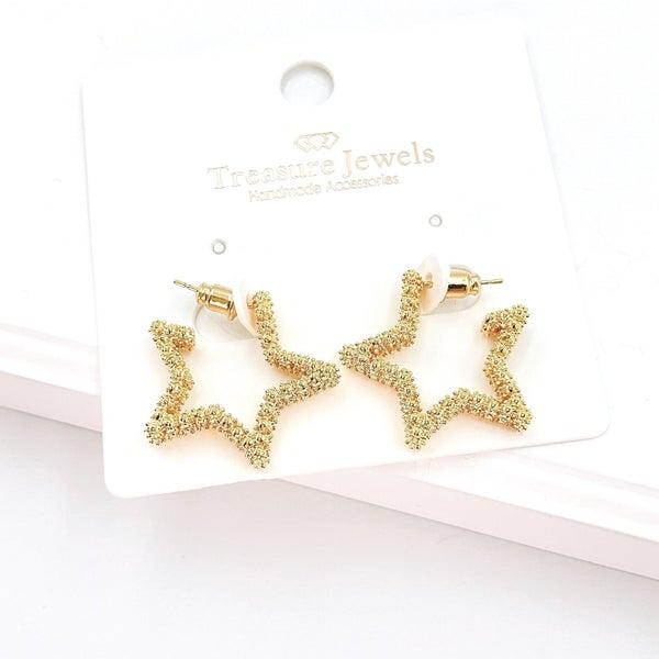 The Star Mini Hoops