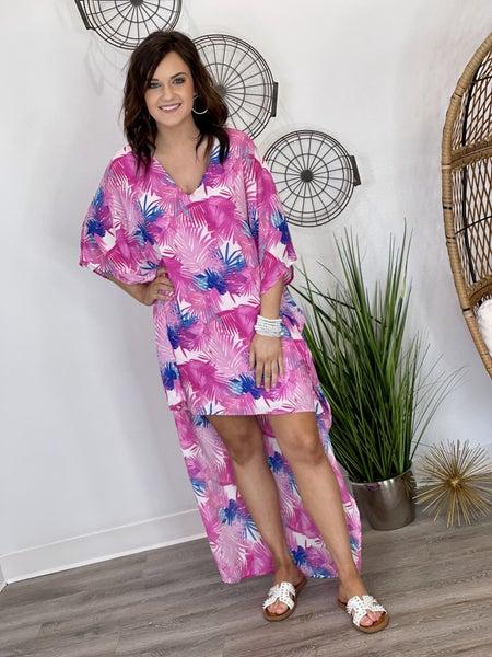 The Bold Palm Hi-Lo Dress