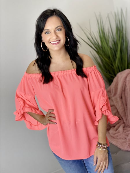 The Coral Perfection Top