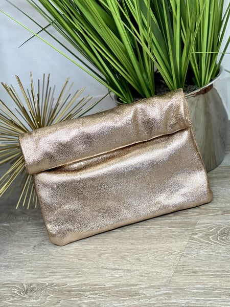 The Rose Shimmer Clutch