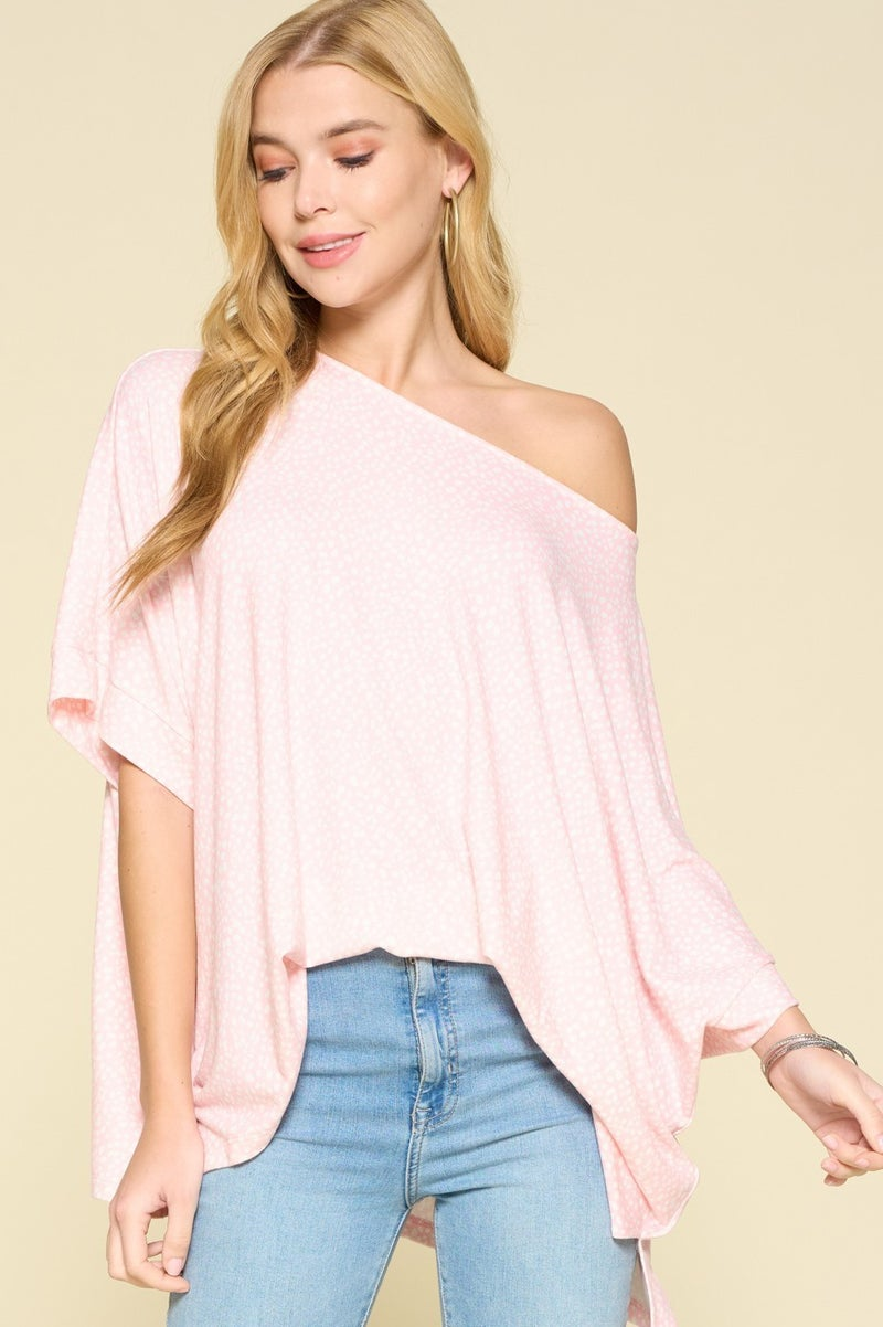 The Pink Dotty Top in All Sizes