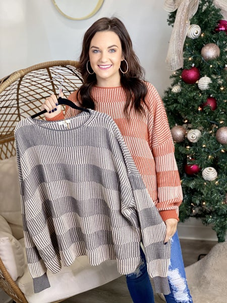 The Nala Striped Sweater-2 Colors