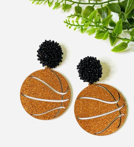 LD STEAL 77-Acrylic Basketball Earrings
