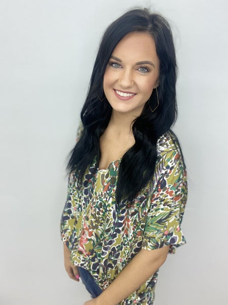 The Paisley Smith Top in Green