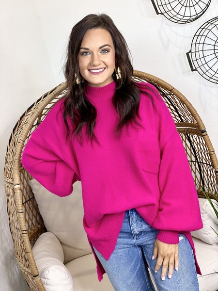 The Molly Sweater in Pink