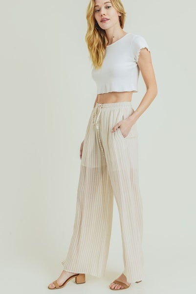 The Rayon Striped Pants